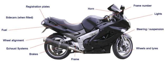 motorcyle mot diagram