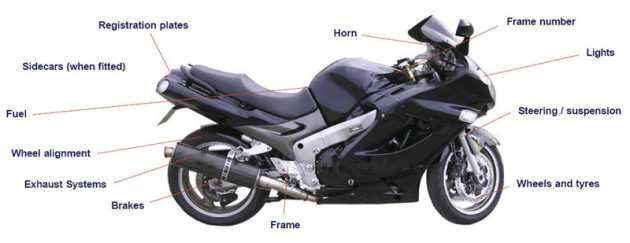 motorcyle mot diagram